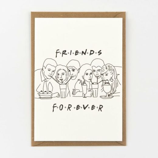 Friends forever kortti -Letterpressed by StudioFlash