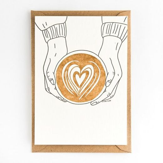 Coffee love kortti -Letterpressed by StudioFlash
