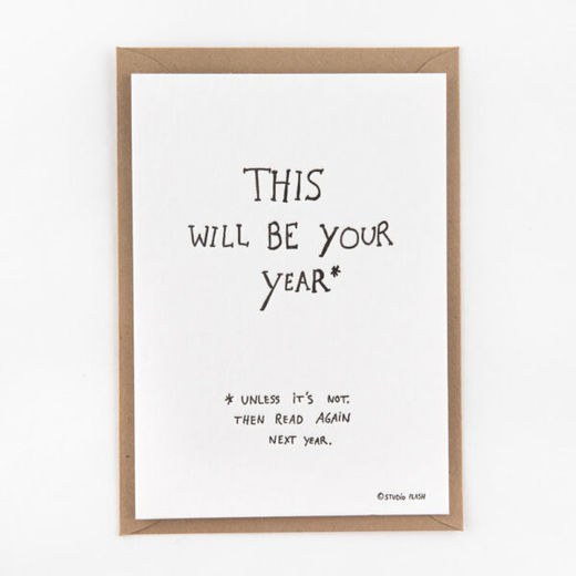 This will be your year kortti -Letterpressed by StudioFlash